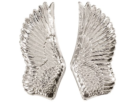 Howard Elliott Silver Wing 3D Wall Art (Set of 2)
