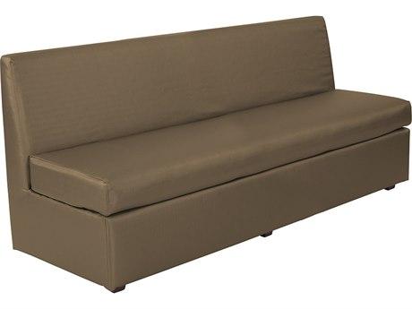 Howard Elliott Slipper Luxe Bronze Loveseat Sofa