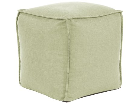 Howard Elliott Square Pouf Sterling Willow Ottoman
