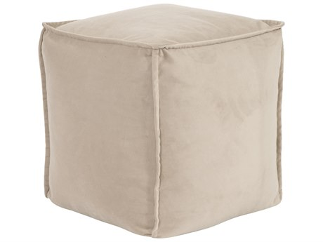 Howard Elliott Square Pouf Bella Sand Ottoman
