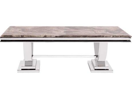Howard Elliott Stainless Steel 51 x 27.5 Coffee Table