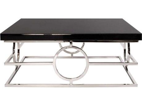 Howard Elliott Stainless Steel 39.5'' Square Coffee Table HE48011
