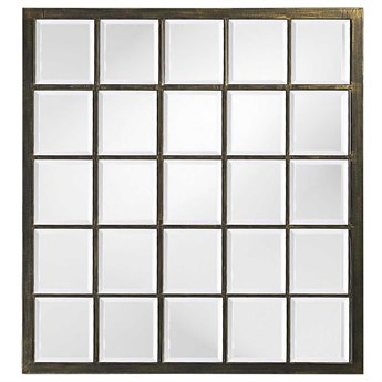Howard Elliott Superior 34 x 38 Black Wall Mirror HE9068