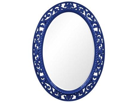 Howard Elliott Suzanne 27 x 37 Glossy Royal Blue Wall Mirror