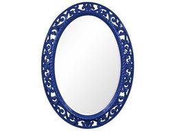 Suzanne 27 x 37 Glossy Royal Blue Wall Mirror