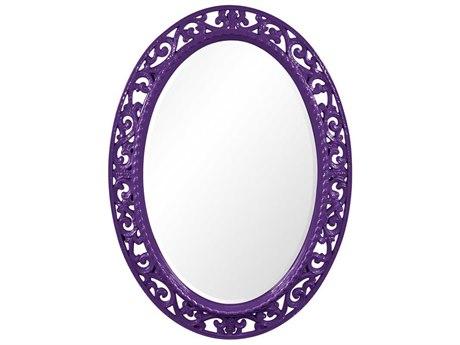 Howard Elliott Suzanne 27 x 37 Glossy Royal Purple Wall Mirror HE2123RP