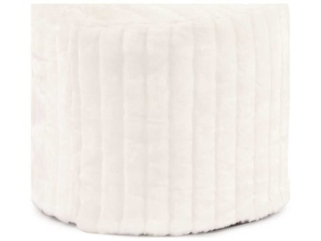 Howard Elliott Mink Snow Tall Pouf Ottoman HE872256