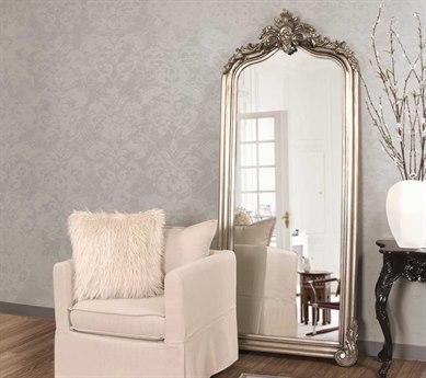 Howard Elliott Tudor 38'' W x 87'' H Silver Floor Floor Mirror HE53073