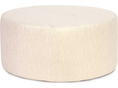 Howard Elliott Glam Snow Universal 36'' Round Ottoman