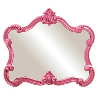 Howard Elliott Veruca 32 x 28 Pink Wall Mirror HE56030