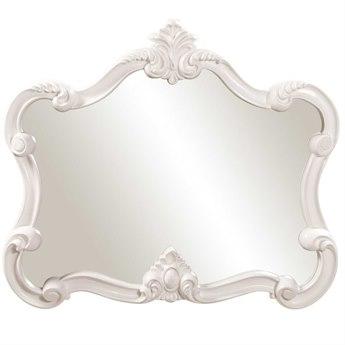 Howard Elliott Veruca 32 x 28 White Wall Mirror HE56032