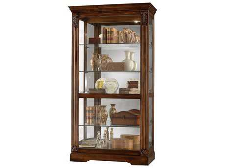 Howard Miller Andreus Tuscany Cherry Curio Cabinet HOW680479