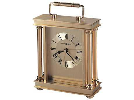 Howard Miller Audra Polished Brass Carriage Alarm Clock