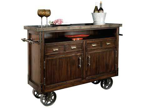 Howard Miller Barrows Rustic Hardwood Wine & Bar Cabinet HOW695146