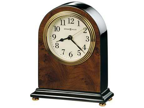 Howard Miller Bedford Walnut Piano Arch Table Clock HOW645576