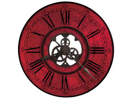 Howard Miller Brassworks II Antique Black & Red Oversized Gallery Wall Clock HOW625569