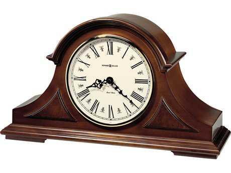 Howard Miller Burton II Windsor Cherry Tambour Mantel Clock