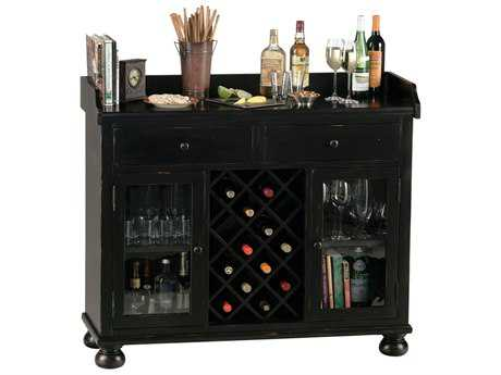 Howard Miller Cabernet Hills Worn Black Wine & Bar Cabinet HOW695002