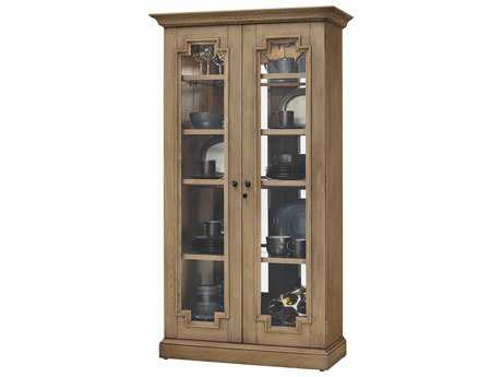 Howard Miller Chasman II Aged Natural Display Cabinet