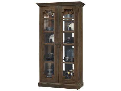 Howard Miller Chasman III Aged Umber Display Cabinet
