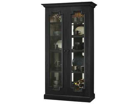 Howard Miller Chasman IV Aged Black Display Cabinet