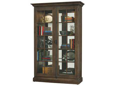 Howard Miller Clawson Aged Umber Display Cabinet HOW670020