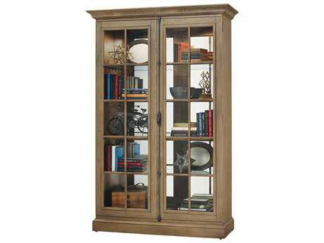 Howard Miller Clawson II Aged Natural Display Cabinet HOW670021