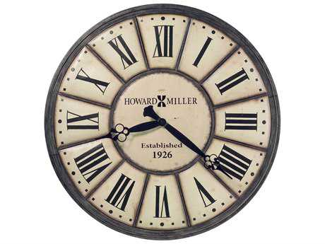 Howard Miller Company Time Antique Nickel Oversized Gallery Wall Clock HOW625601