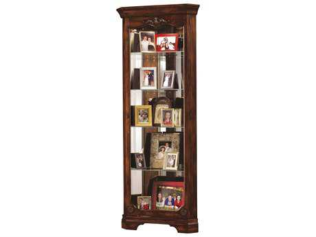 Howard Miller Constance Hampton Cherry Corner Curio Cabinet HOW680404