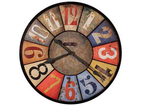 Howard Miller County Line Red & Brown Oversized Gallery Wall Clock HOW625547