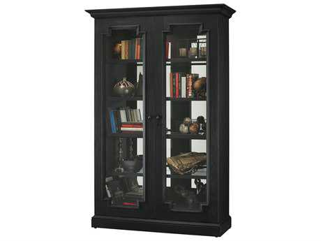 Howard Miller Desmond II Aged Black Display Cabinet HOW670016