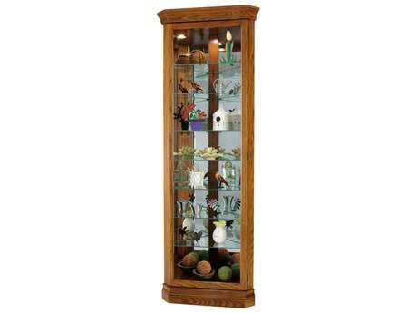 Howard Miller Dominic Legacy Oak Corner Curio Cabinet HOW680485