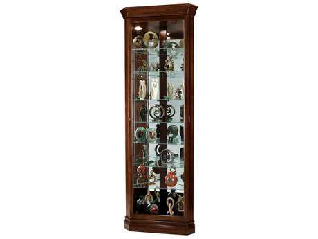 Howard Miller Drake Cherry Bordeaux Corner Curio Cabinet HOW680483
