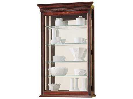 Howard Miller Edmonton Windsor Cherry Wall Curio Cabinet HOW685104