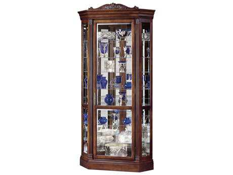 Howard Miller Embassy II Embassy Cherry Corner Curio Cabinet HOW680290
