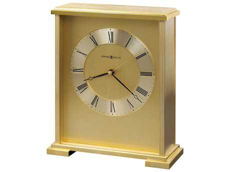 Howard Miller Exton Brushed and Polished Brass Carriage Style Clock HOW645569