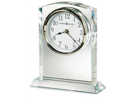 Howard Miller Flaire Silver-Tone Bezel Crystal Table Clock