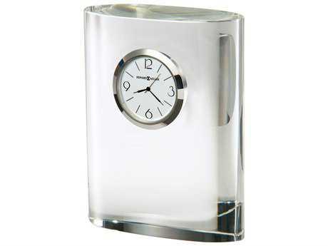Howard Miller Fresco Silver-Tone Bezel Crystal Clock
