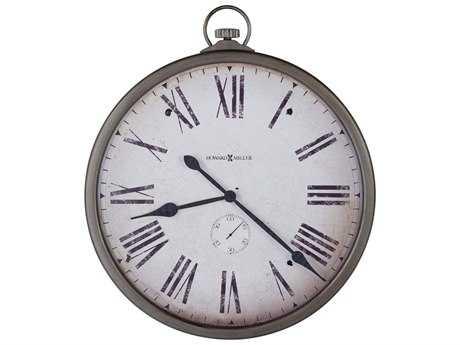 Howard Miller Gallery Pocket Watch Antique Nickel Oversized Gallery Wall Clock HOW625572