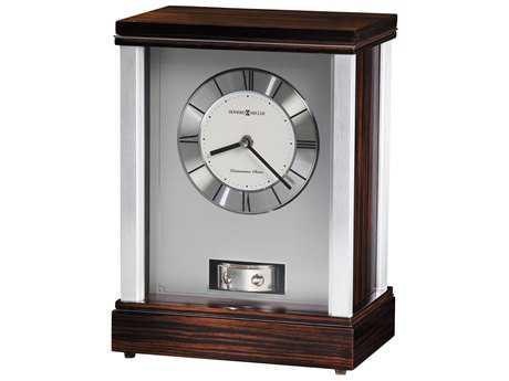 Howard Miller Gardner Macassar Ebony Mantel Clock