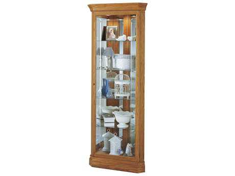 Howard Miller Hammond Golden Oak Corner Curio Cabinet HOW680347