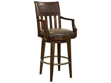 Howard Miller Harbor Springs Rustic Hardwood Swivel Bar Stool HOW697030
