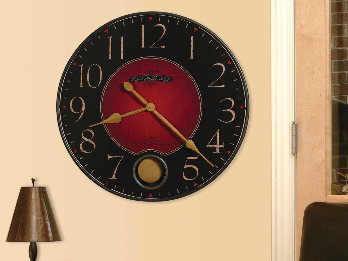 Howard Miller Harmon Wrought Iron Oversized Gallery Wall Clock