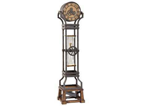 Howard Miller Hourglass Aged Iron Floor Clock HOW615074