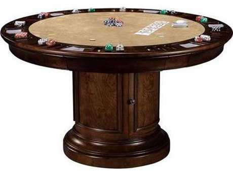 Howard Miller Ithaca Hampton Cherry 54'' Round Pub & Game Table HOW699012