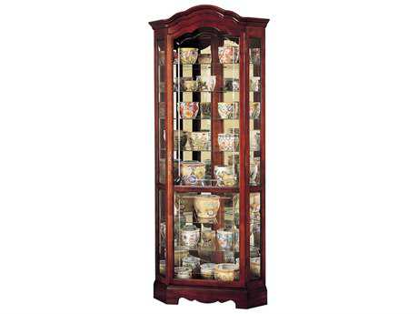 Howard Miller Jamestown Windsor Cherry Corner Curio Cabinet HOW680249
