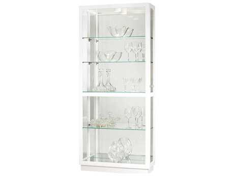Howard Miller Jayden IV Gloss White Curio Cabinet HOW680574