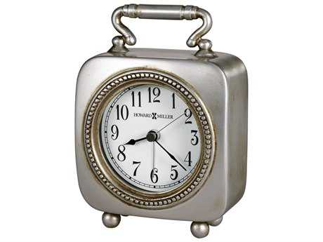 Howard Miller Kegan Antique Pewter Carriage Style Alarm Clock HOW645615