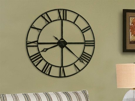 Howard Miller Lacy 32'' Round Dark Charcoal Gray Oversized Gallery Wall Clock HOW625372