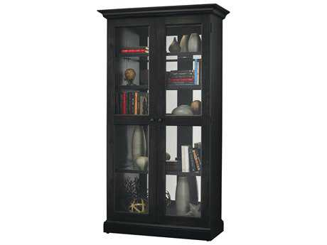 Howard Miller Lennon II Aged Black Display Cabinet HOW670006